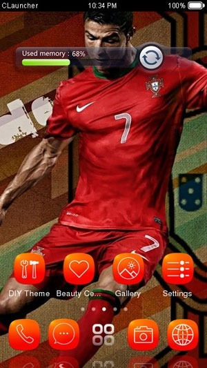 Cristiano Ronaldo CLauncher Android Theme Image 2