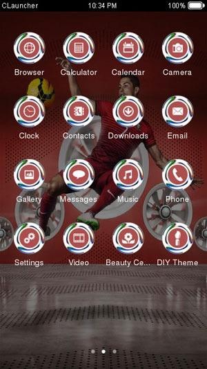 Ronaldo CLauncher Android Theme Image 1