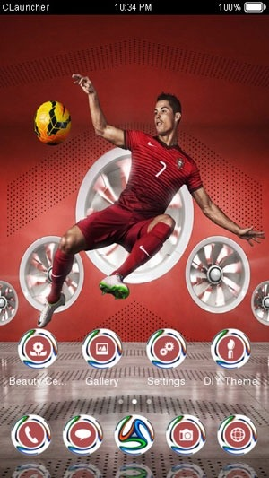 Ronaldo CLauncher Android Theme Image 2