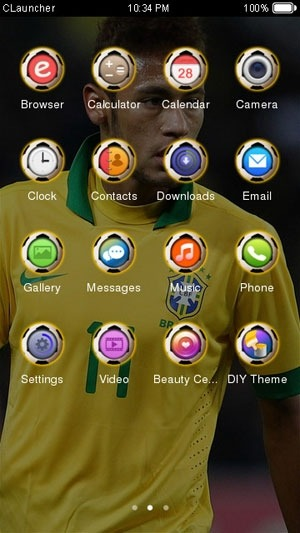 Star Neymar CLauncher Android Theme Image 1