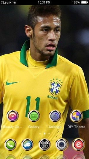 Star Neymar CLauncher Android Theme Image 2