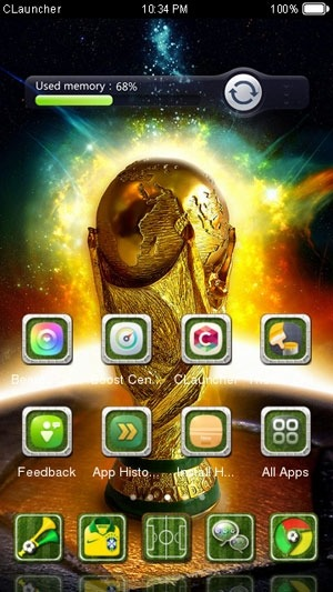 The Brazil World Cup CLauncher Android Theme Image 2