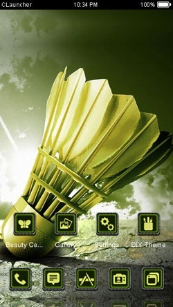 Badminton Cock CLauncher Android Theme Image 1