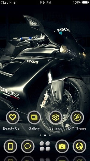 Ducaticorse 848 CLauncher Android Theme Image 1