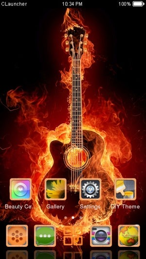 Play the Guitar CLauncher Android Theme Image 1
