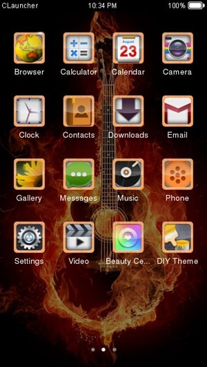Play the Guitar CLauncher Android Theme Image 2