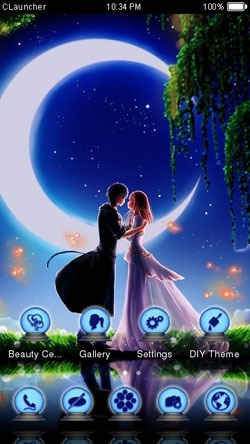 Couple in Moonlight CLauncher Android Theme Image 1