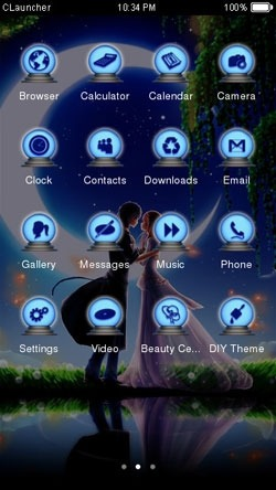 Couple in Moonlight CLauncher Android Theme Image 2