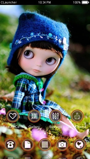 Cute Doll CLauncher Android Theme Image 1