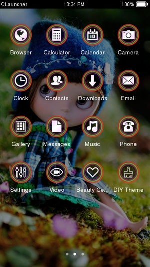 Cute Doll CLauncher Android Theme Image 2