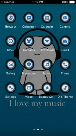 Cute Music CLauncher Android Theme Image 2