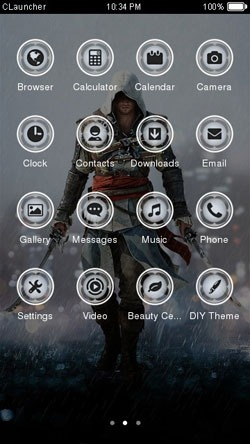 Assassins Creed CLauncher Android Theme Image 2