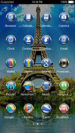 Eiffel Tower CLauncher Android Theme Image 2