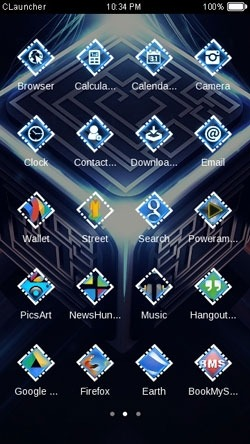 Light Cube CLauncher Android Theme Image 2
