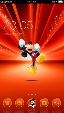 Mickey Mouse CLauncher Android Theme Image 1