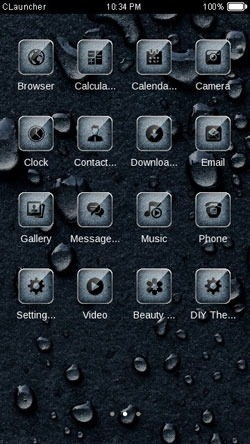 Water Drops CLauncher Android Theme Image 2