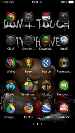 Dont Touch CLauncher Android Theme Image 2