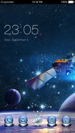 Satellite CLauncher Android Theme Image 1