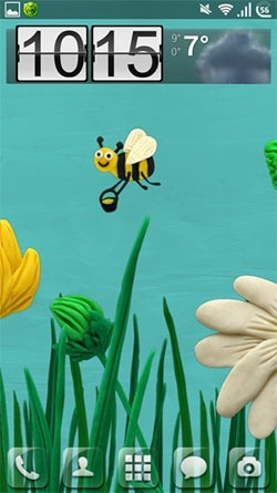 Plasticine Flowers Android Wallpaper Image 1