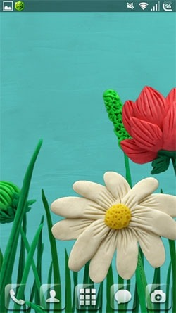Plasticine Flowers Android Wallpaper Image 2