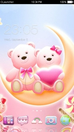 Honey Bear CLauncher Android Theme Image 1