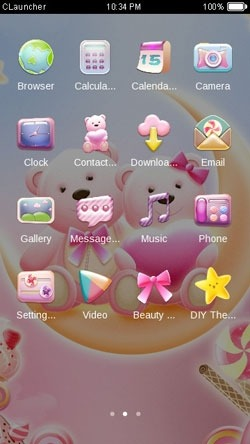 Honey Bear CLauncher Android Theme Image 2