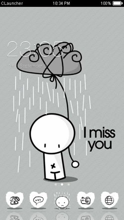 Miss You CLauncher Android Theme Image 1