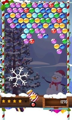 Bubble Shooter Christmas HD Android Game Image 1
