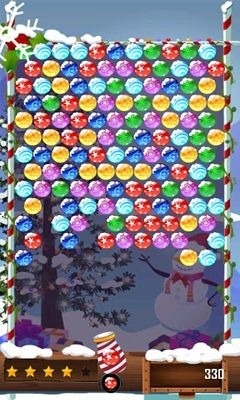 Bubble Shooter Christmas HD Android Game Image 2
