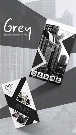 Grey Go Launcher EX Android Theme Image 1