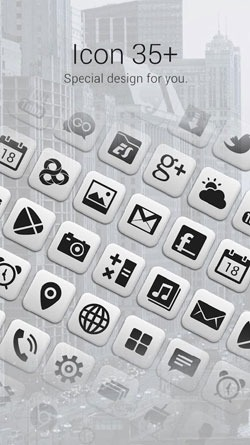 Grey Go Launcher EX Android Theme Image 2