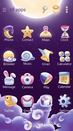 Moonie Go Launcher EX Android Mobile Phone Theme Image 2