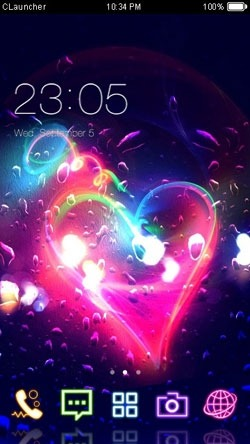 Romantic Heart CLauncher Android Theme Image 1