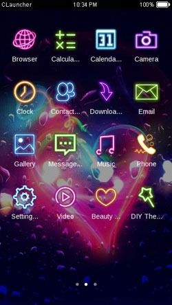 Romantic Heart CLauncher Android Theme Image 2
