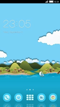 Toon Island CLauncher Android Theme Image 1