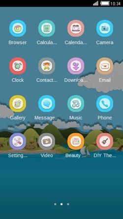 Toon Island CLauncher Android Theme Image 2