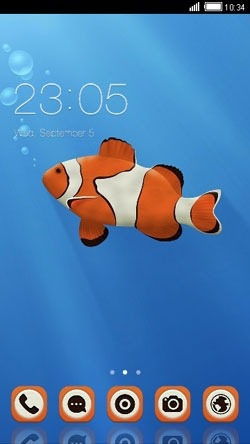 Clown Fish CLauncher Android Theme Image 1