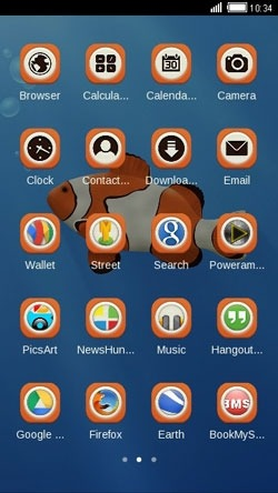 Clown Fish CLauncher Android Theme Image 2