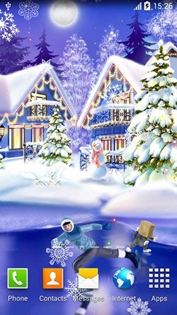 Christmas Ice Rink Android Wallpaper Image 1
