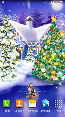 Christmas Ice Rink Android Wallpaper Image 2