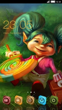 Candies CLauncher Android Theme Image 1