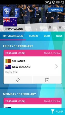 ICC Cricket World Cup 2015 Android Application Image 2