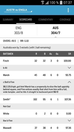 The ESPNcricinfo Cricket App Android Application Image 1