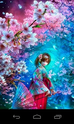 3D Sakura Magic Android Wallpaper Image 2