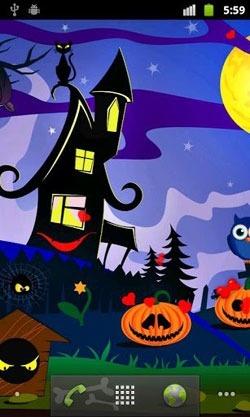 Halloween Pumpkins Android Wallpaper Image 1