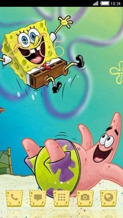 Spongebob CLauncher Android Theme Image 1
