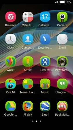 Abstract Shine CLauncher Android Theme Image 2