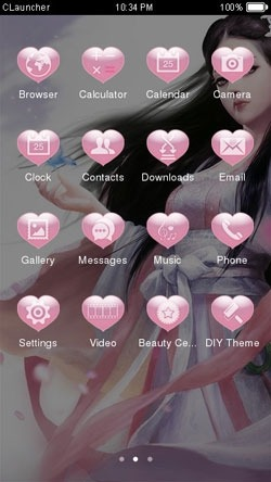 Anime Girl CLauncher Android Theme Image 2