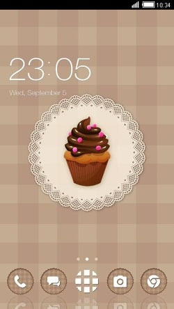 Chocolate Cupcake CLauncher Android Theme Image 1