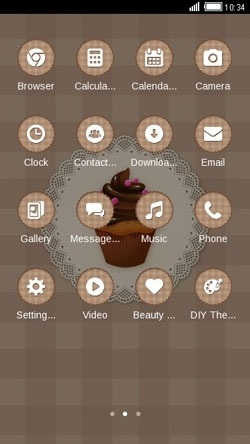 Chocolate Cupcake CLauncher Android Theme Image 2